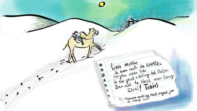 illustratie Tobias gaat op pad